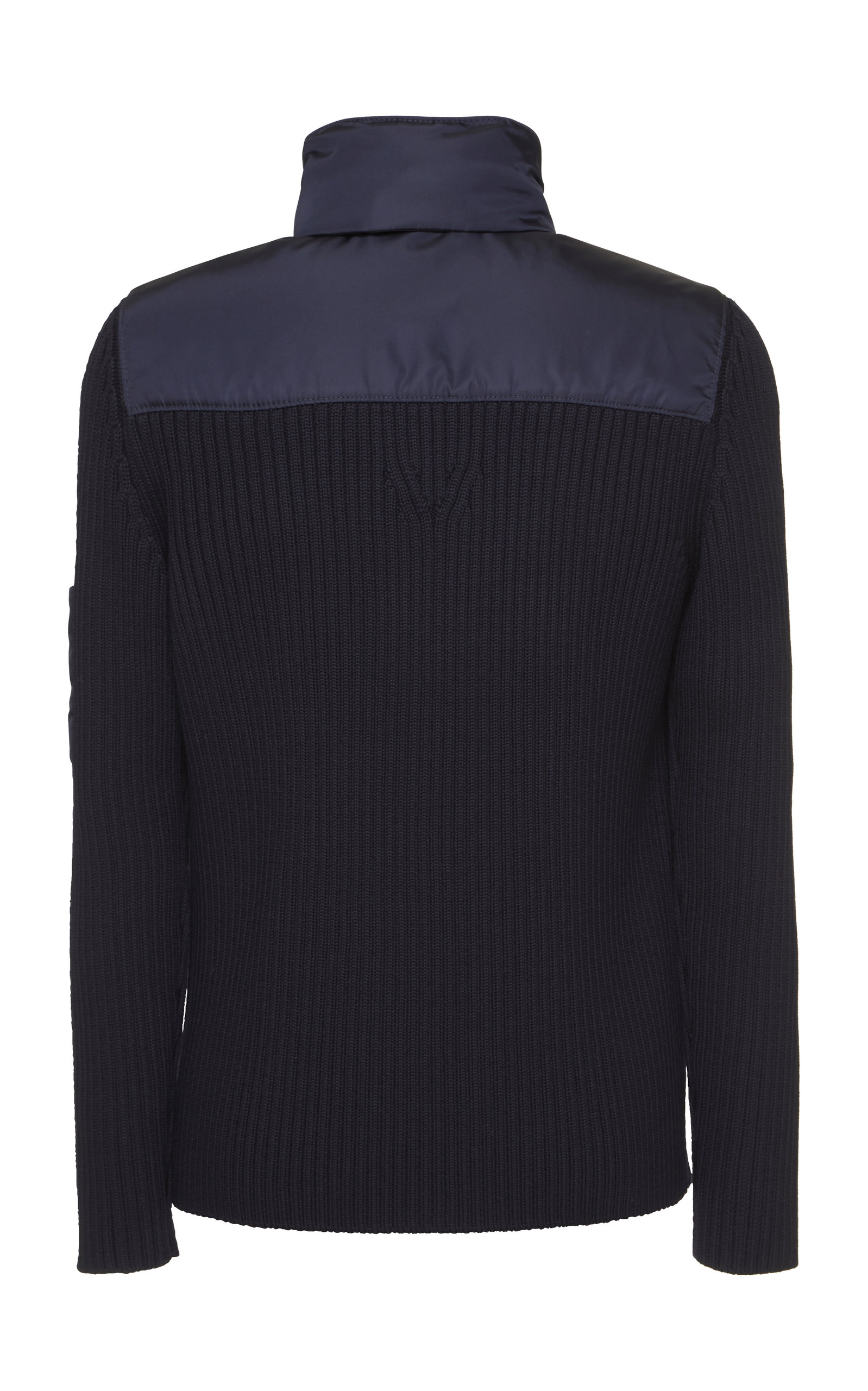 Nylon Navy Wool sleeve Prada Jacket Zvdgwvq
