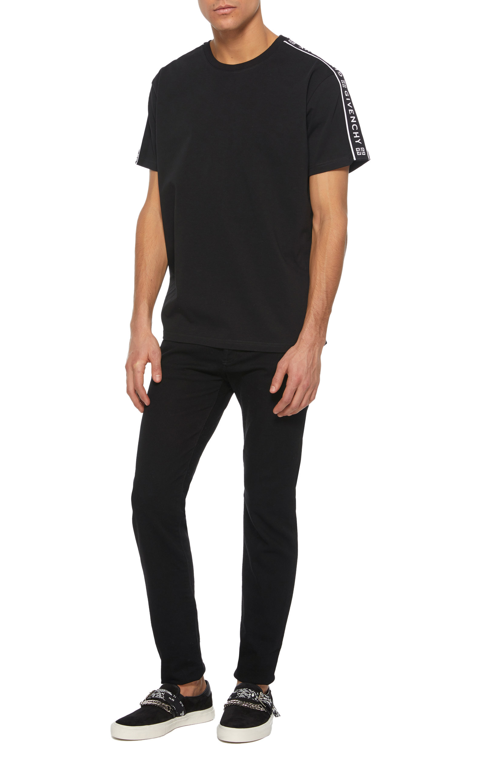 cf0641e0c36745 Black Cotton Star T-Shirt by Givenchy | Moda Operandi