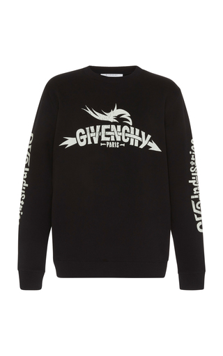 GIVENCHY   Givenchy Graphic Embroidered Logo Sweatshirt   Goxip