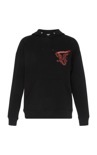 GIVENCHY   Givenchy Graphic Cotton Hoodie   Goxip
