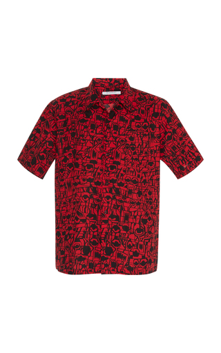 GIVENCHY | Givenchy Printed Cotton-Poplin Button-Up Shirt | Goxip