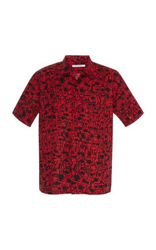 GIVENCHY   Givenchy Printed Cotton-Poplin Button-Up Shirt   Goxip
