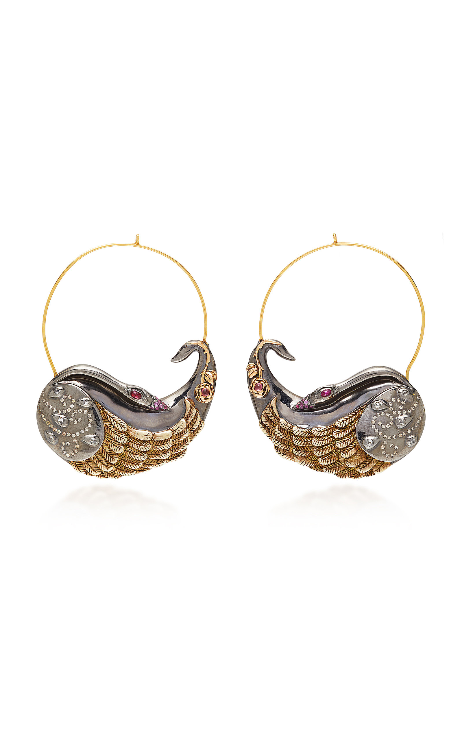 ONE-OF-A-KIND LARGE SWAN HOOPS