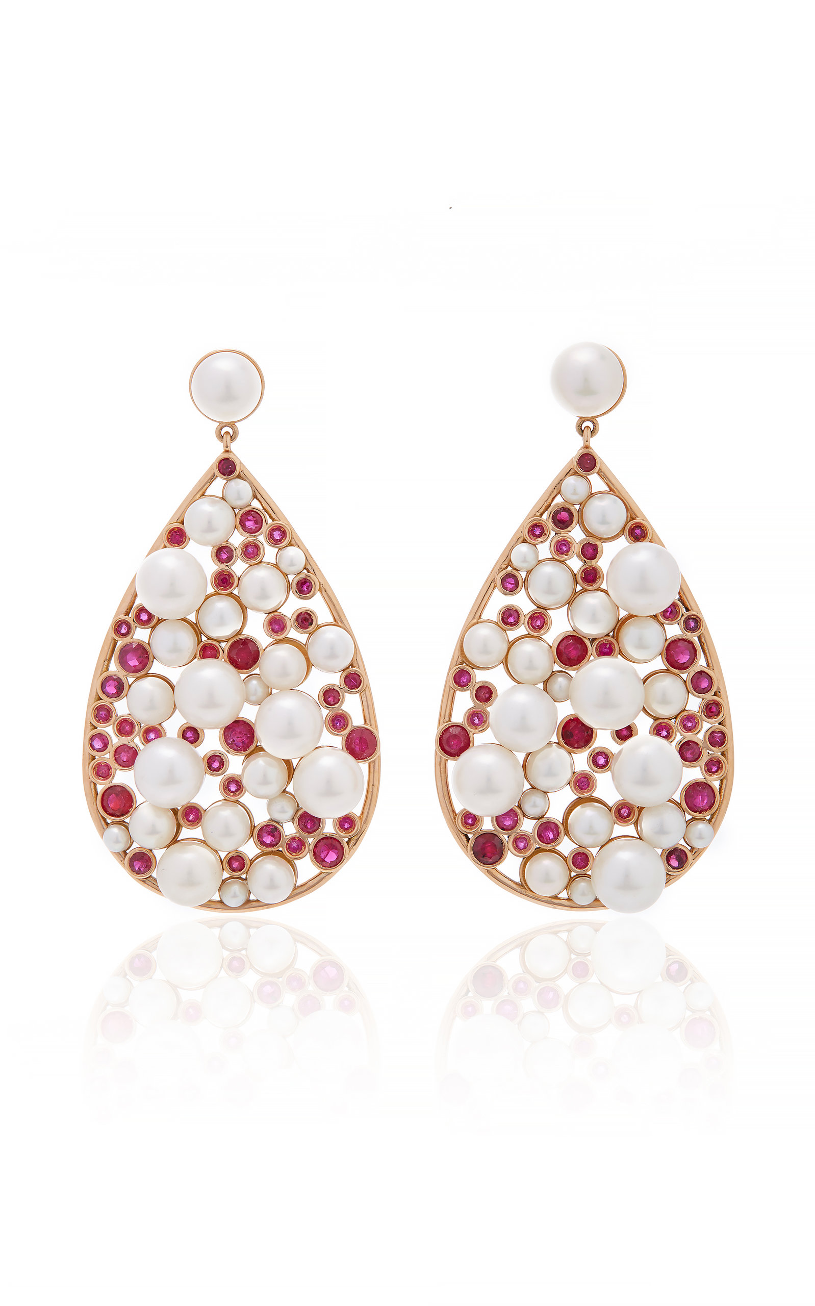 NANCY NEWBERG TEARDROP RUBY EARRINGS