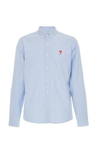 AMI | AMI Embroidered Logo Cotton Oxford Shirt | Goxip