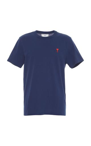 AMI | AMI Logo Cotton T-Shirt | Goxip