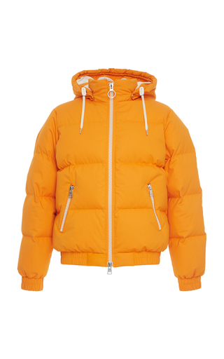 AMI | AMI Quilted Cotton Hooded Puffer Jacket | Goxip