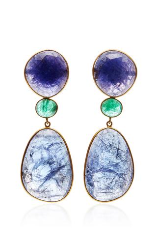 One-Of-A-Kind Venetian Glass And Quartz Earrings Bahina DaTCjFk