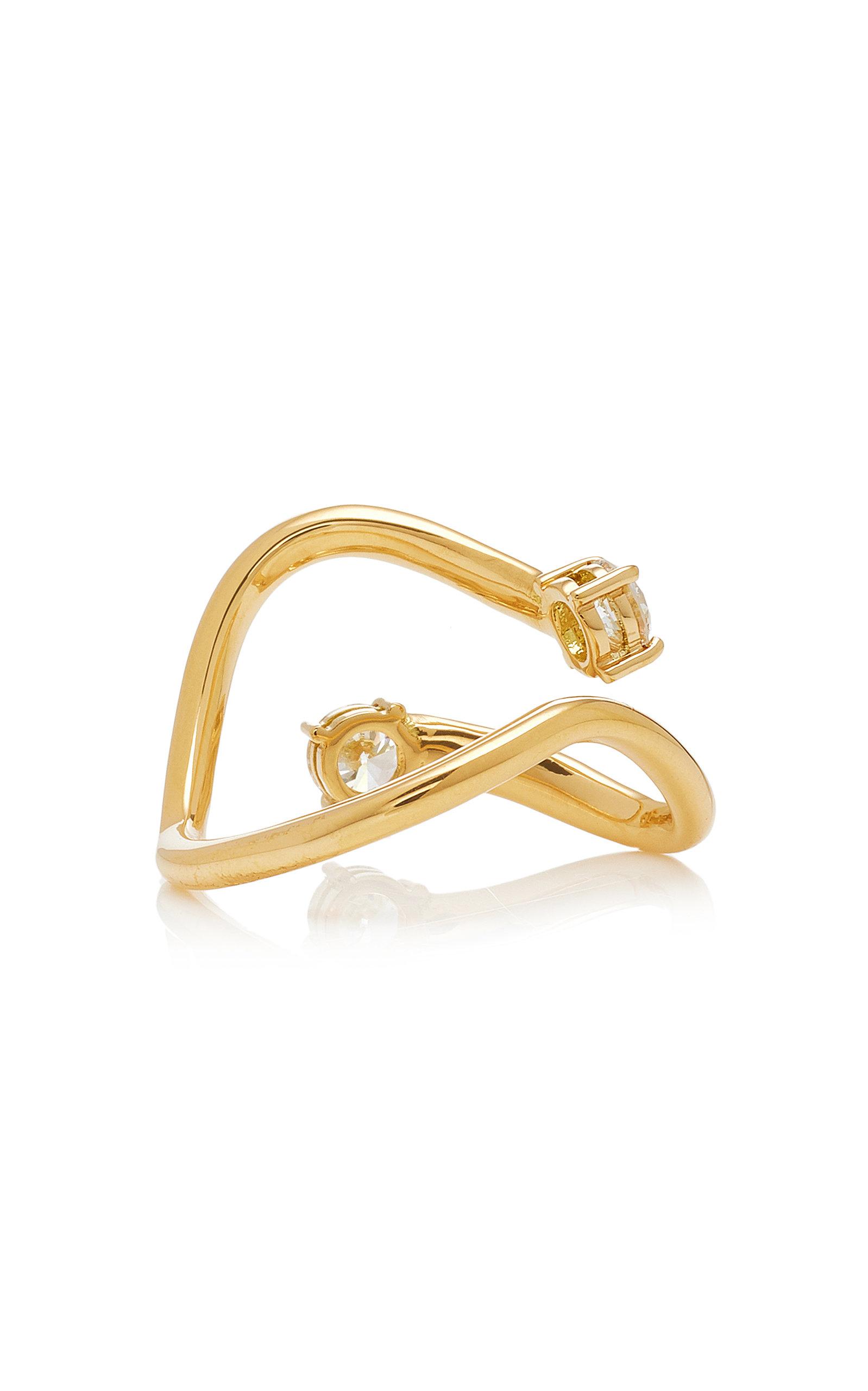 Aria Skye Gold Ring Melissa Kaye tuDq8i