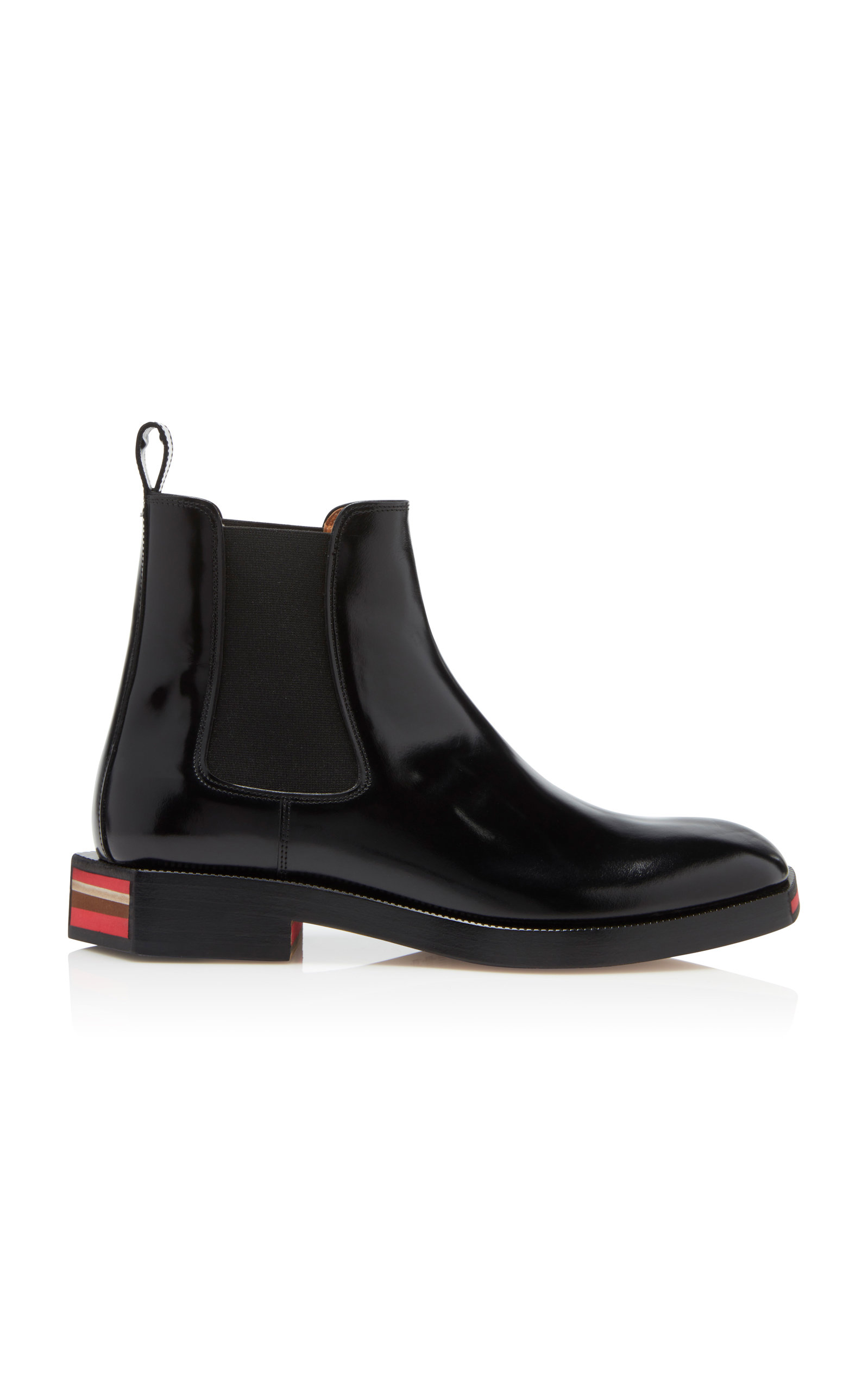 huge discount b6af8 02e17 Stivaletto Geometric Patent Ankle Boots