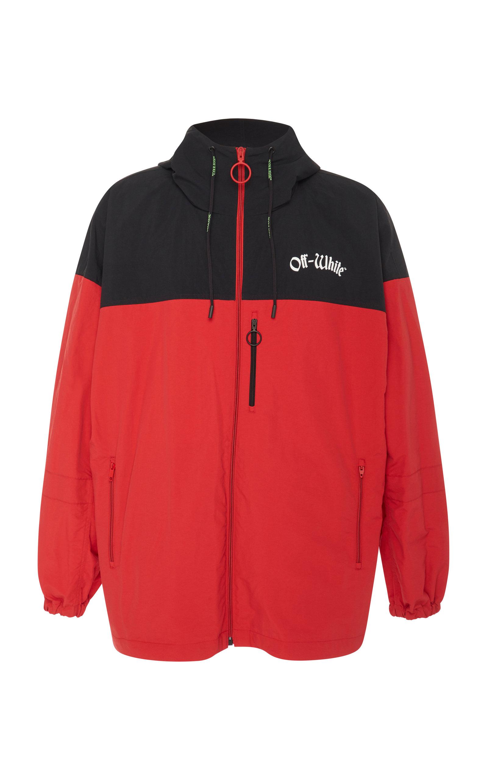 Off-white Men's Full-zip Wind-resistant Jacket In Red