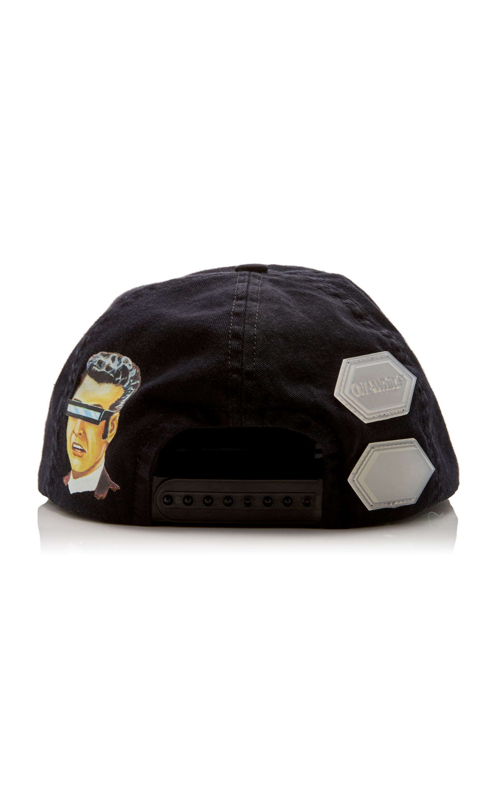 Off-White Printed Cotton-Twill Baseball Cap In 1088 Black Multi ... a08bcefacff5