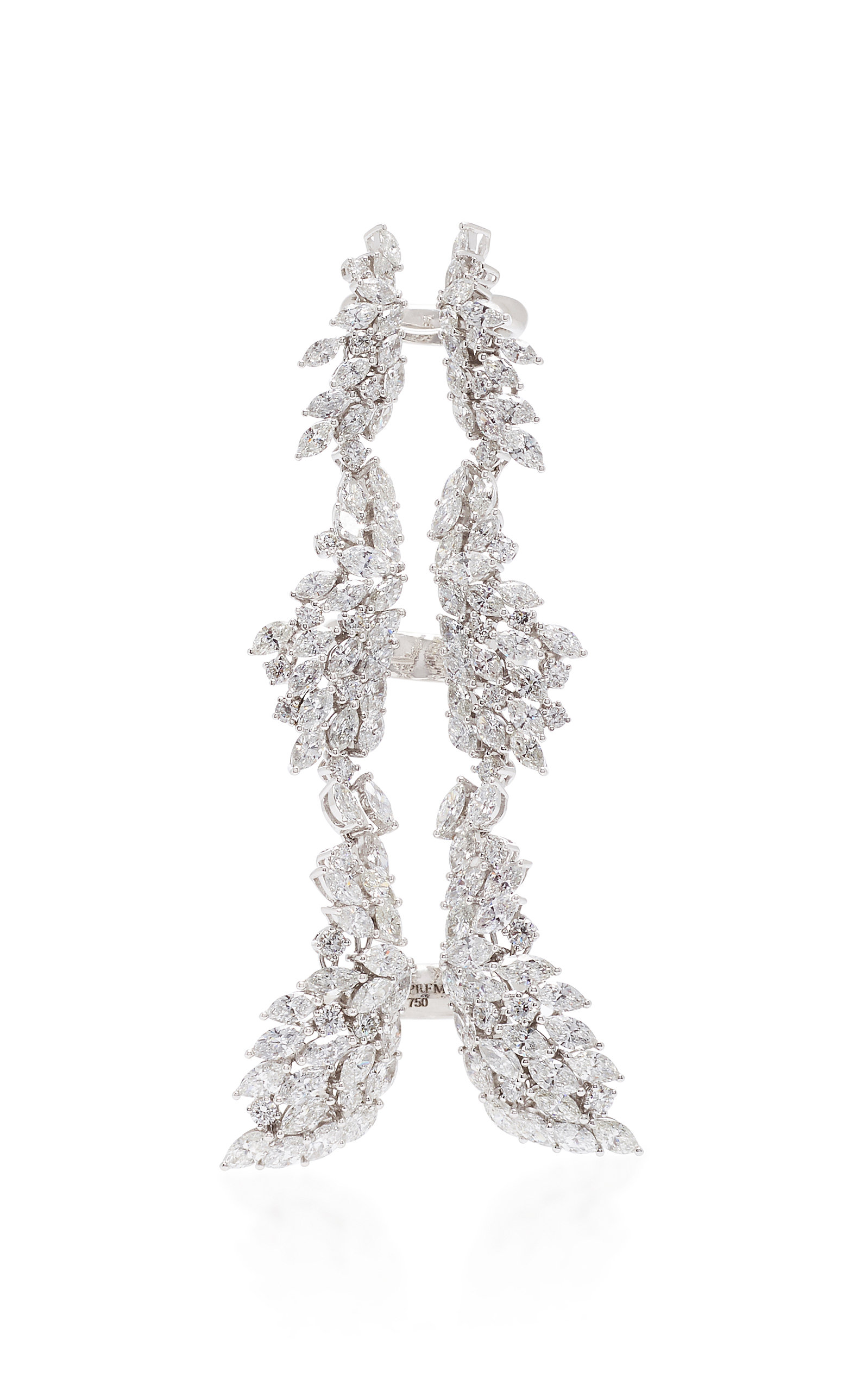 Yeprem Chevalier Long Diamond Ring Wh1fDJcucs