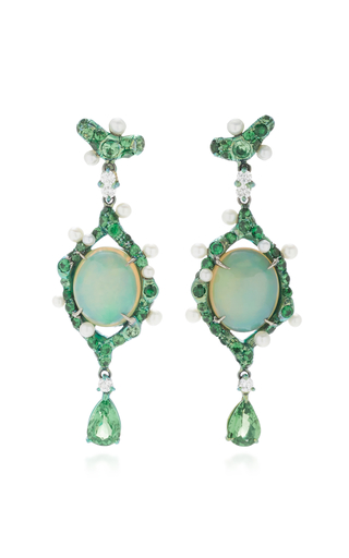 ARUNASHI | Arunashi One-Of-A-Kind Opal Drop Earrings | Goxip