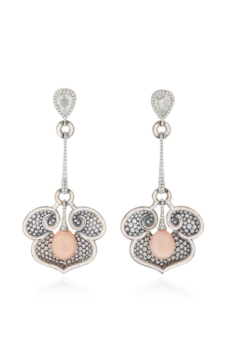 ARUNASHI | Arunashi One-Of-A-Kind Diamond And Conch Pearl Earrings | Goxip