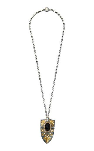 ELIE TOP   Elie Top Earth Shield Pendant Necklace   Goxip