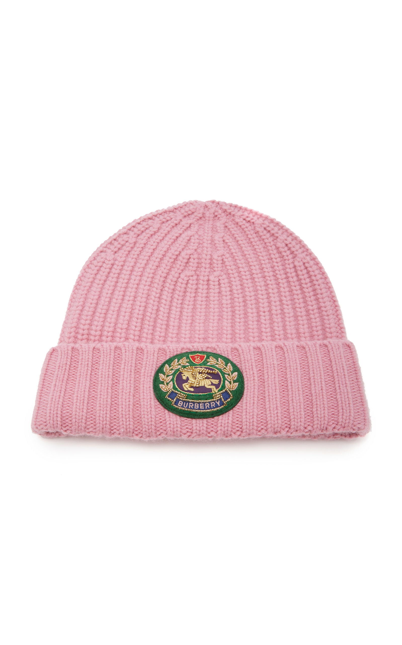 464bdb51ef5b9 Burberry Embroidered Wool And Cashmere-Blend Beanie In Pink