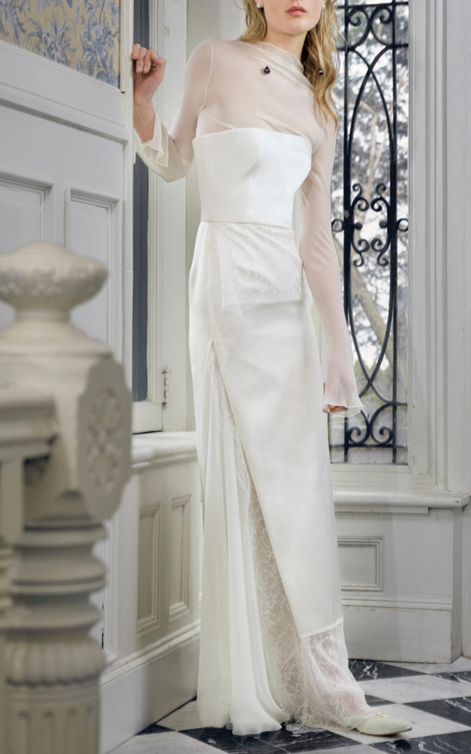 4c32d8aa544a6 Danielle FrankelPoppy Duchesse Strapless Column Gown. CLOSE. FULL SCREEN