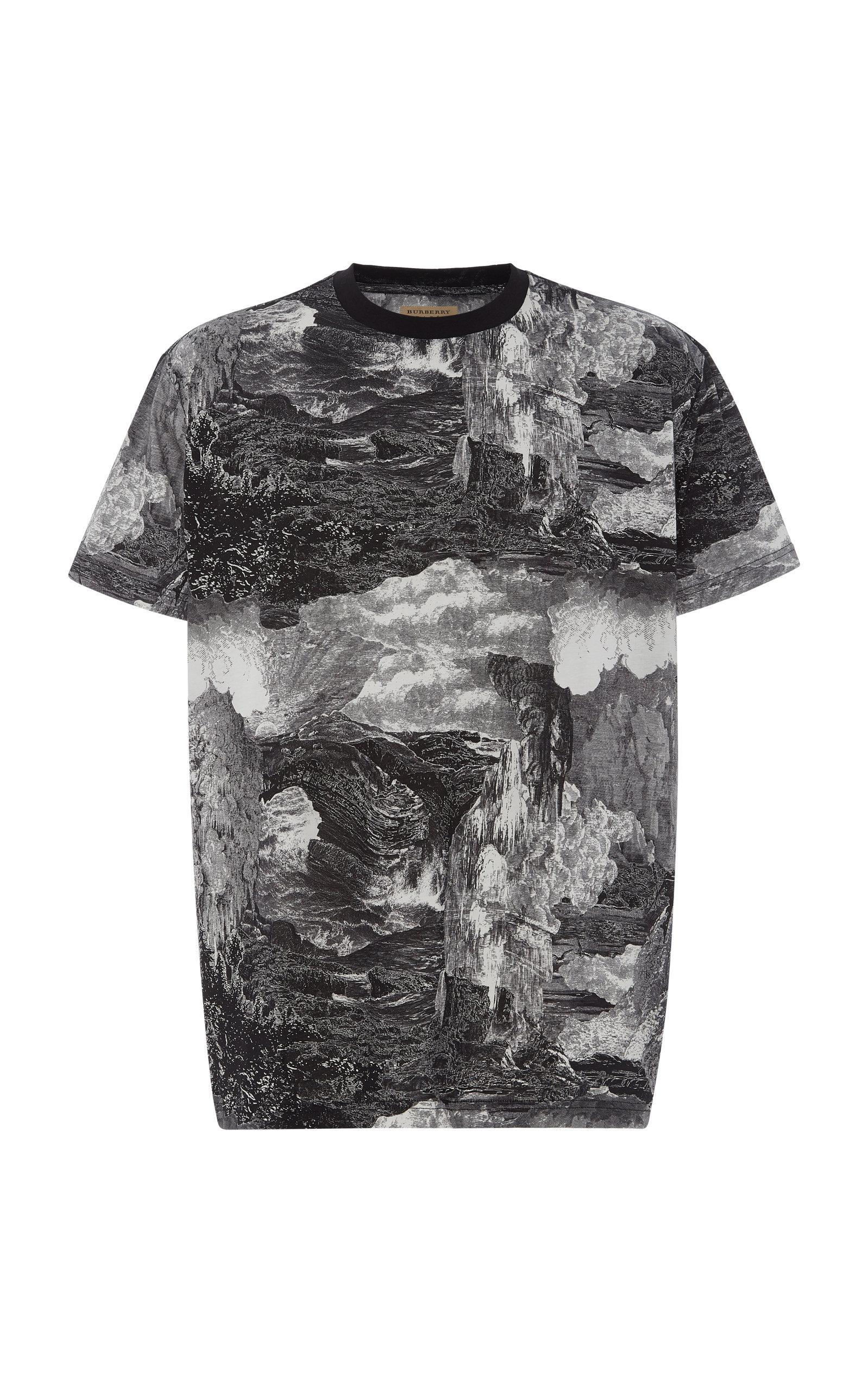 8a41580a1 Printed Cotton-Jersey T-Shirt by Burberry | Moda Operandi