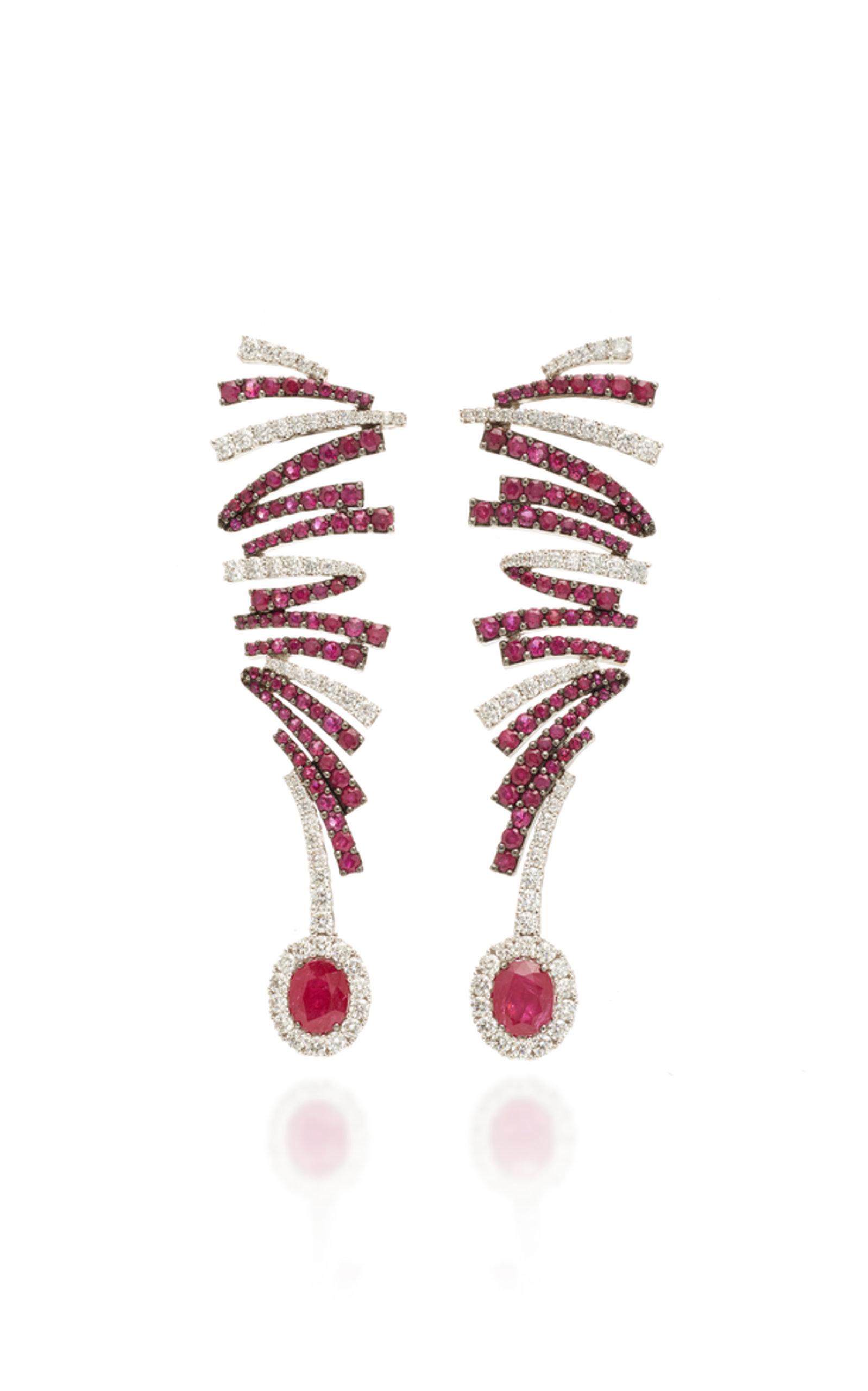 LABYRINTH RUBY EARRINGS