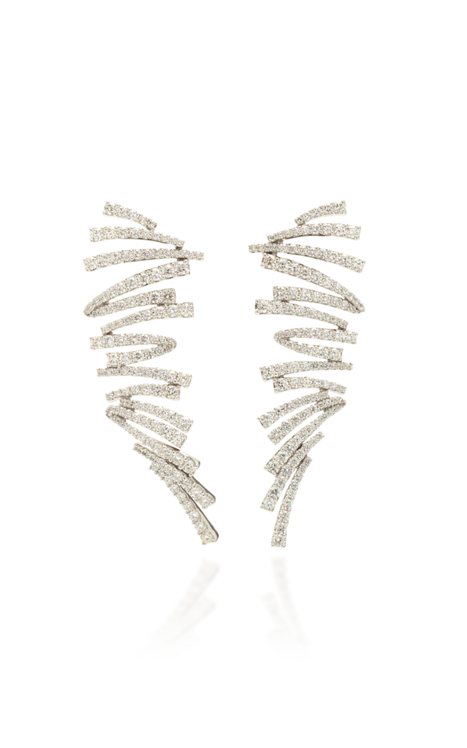 HUEB LABYRINTH WHITE GOLD AND DIAMOND EARRINGS