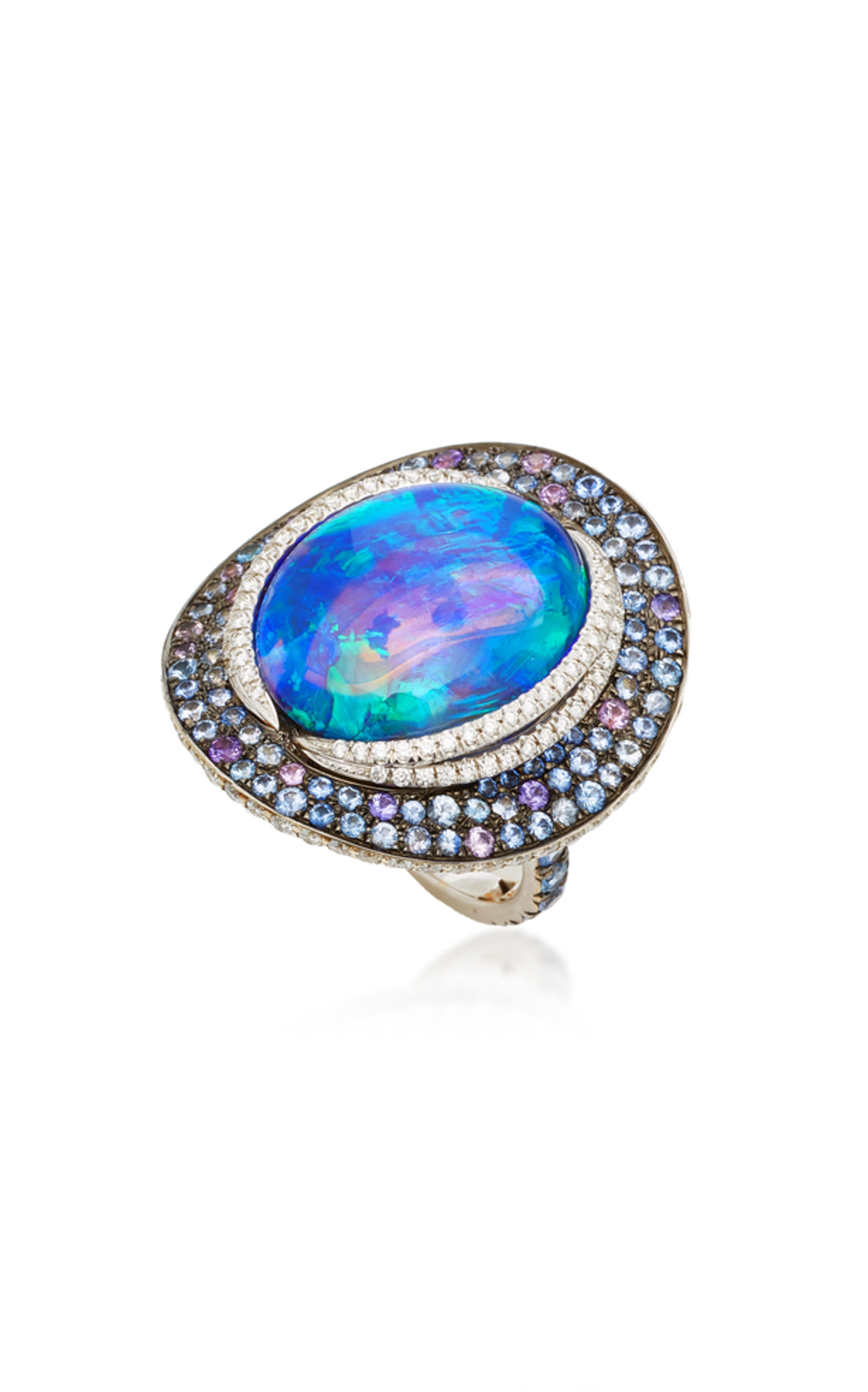 One-Of-A-Kind Black Opal Ring Katherine Jetter For Nice For Sale Sale Get Authentic yF7td