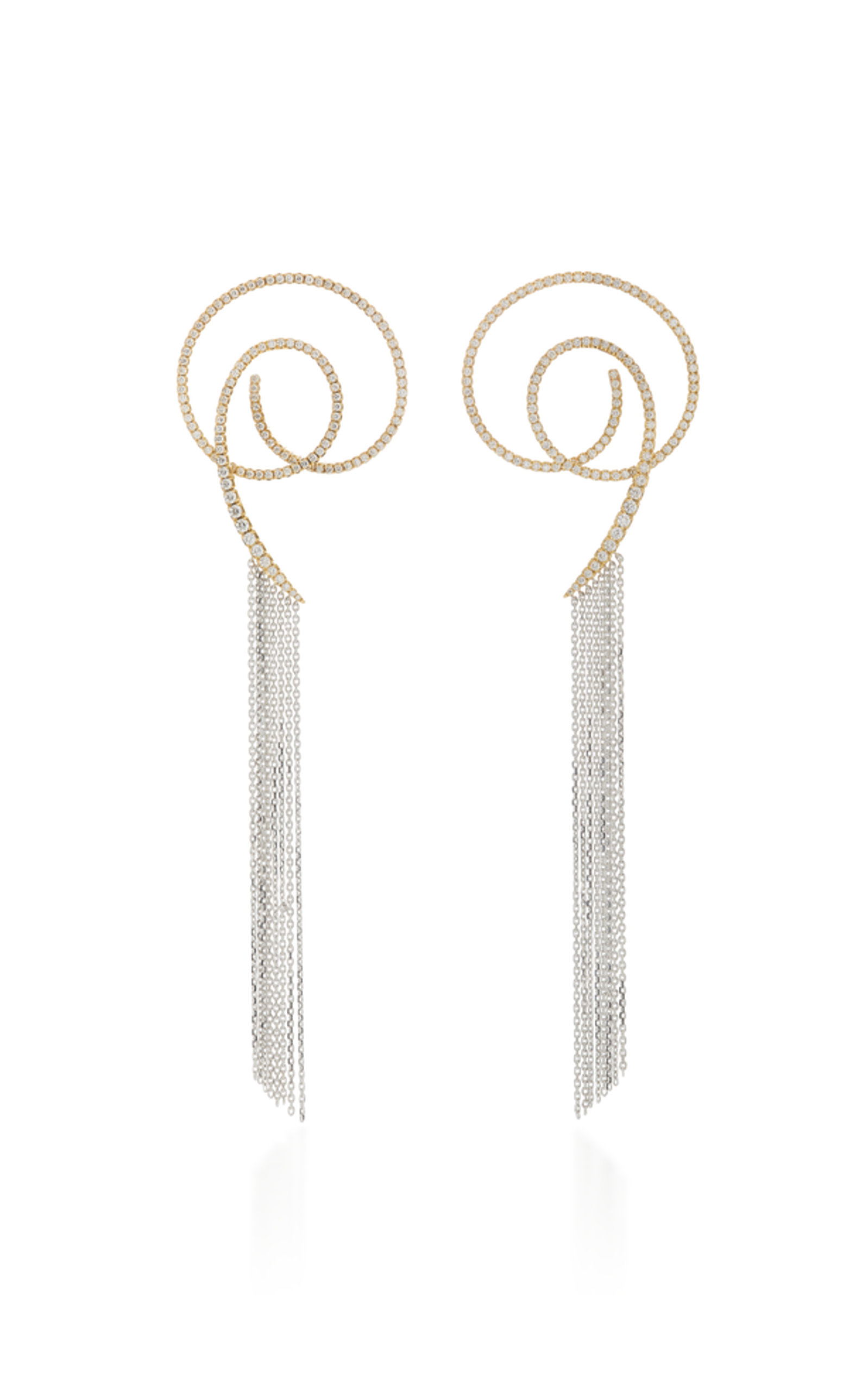 AMANTE LOOPED EARRINGS WITH FRINGE