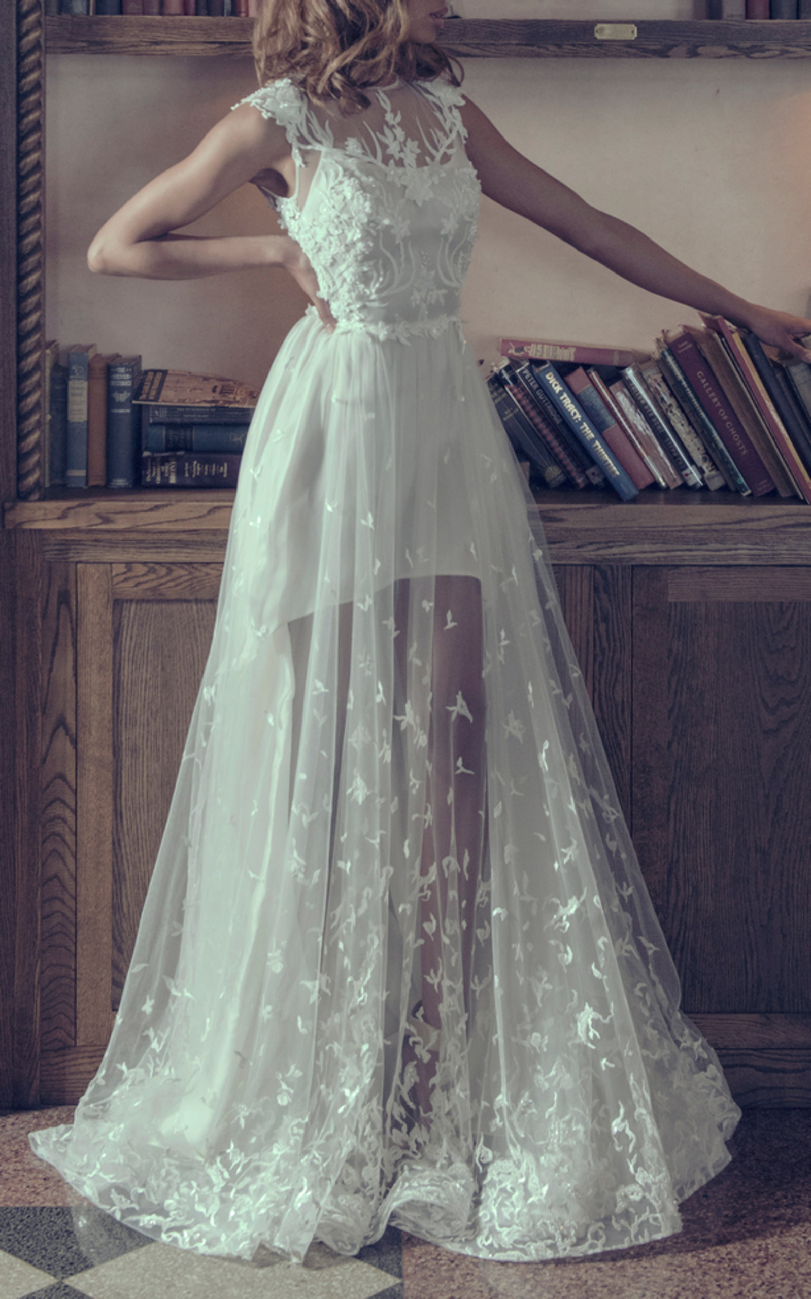 ADAM ZOHAR BLANCA ORGANZA DRESS