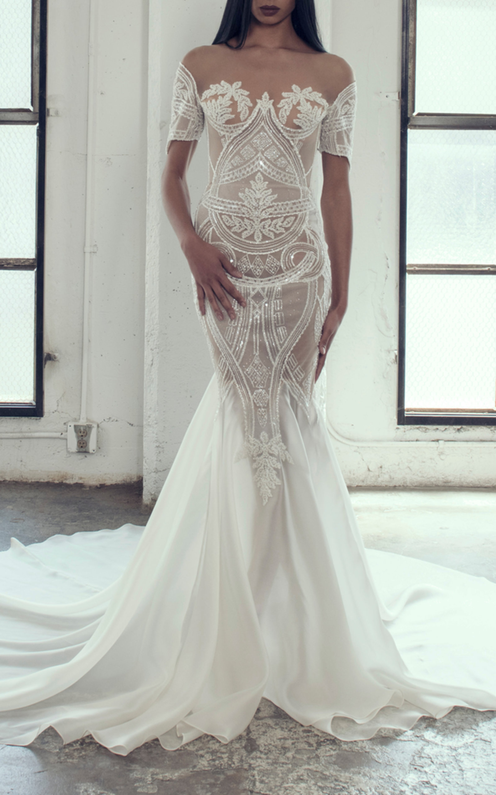 ADAM ZOHAR LILY MERMAID GOWN