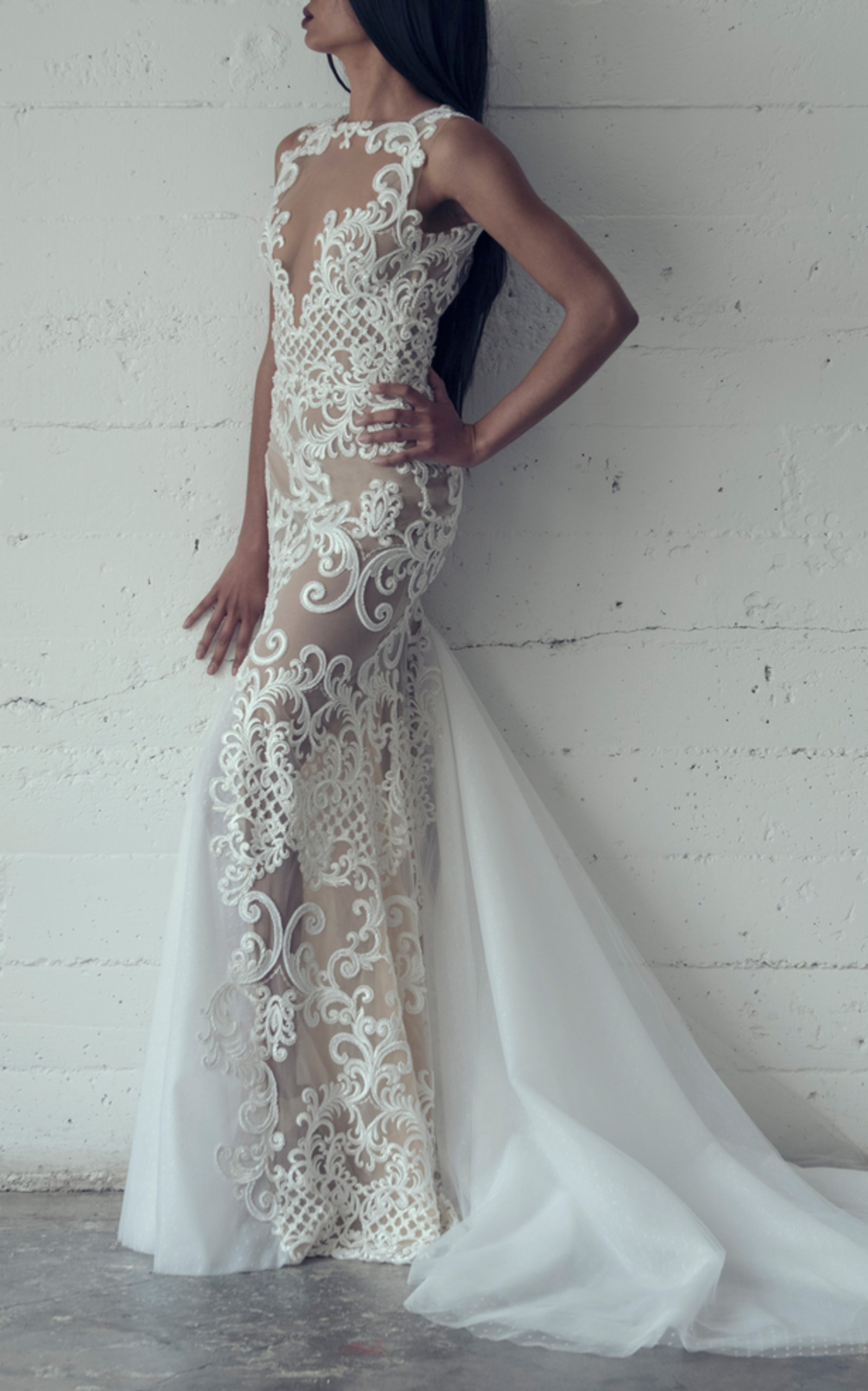 ADAM ZOHAR ODETTE OPEN BACK GOWN