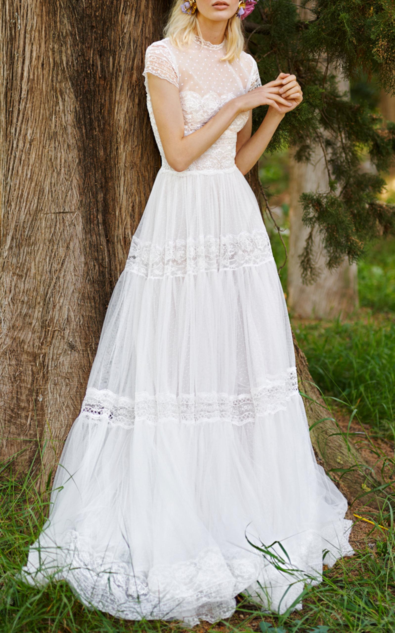 COSTARELLOS BRIDAL FIT & FLARE TULLE DRESS