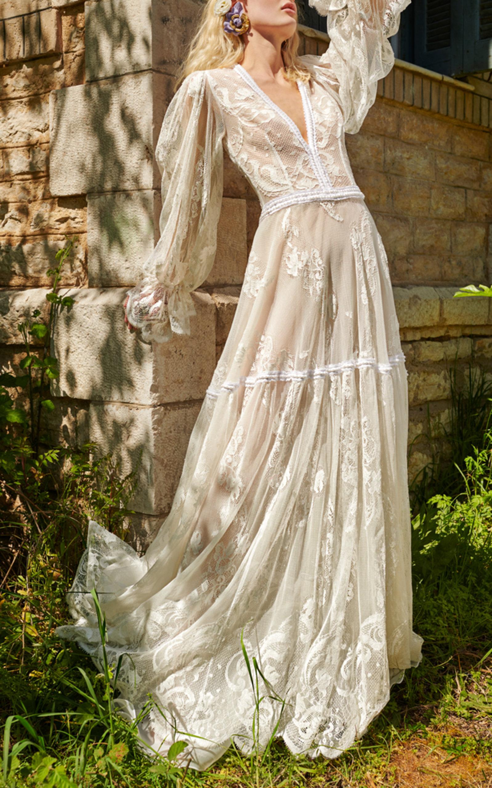COSTARELLOS BRIDAL ROMANTIC LACE GOWN