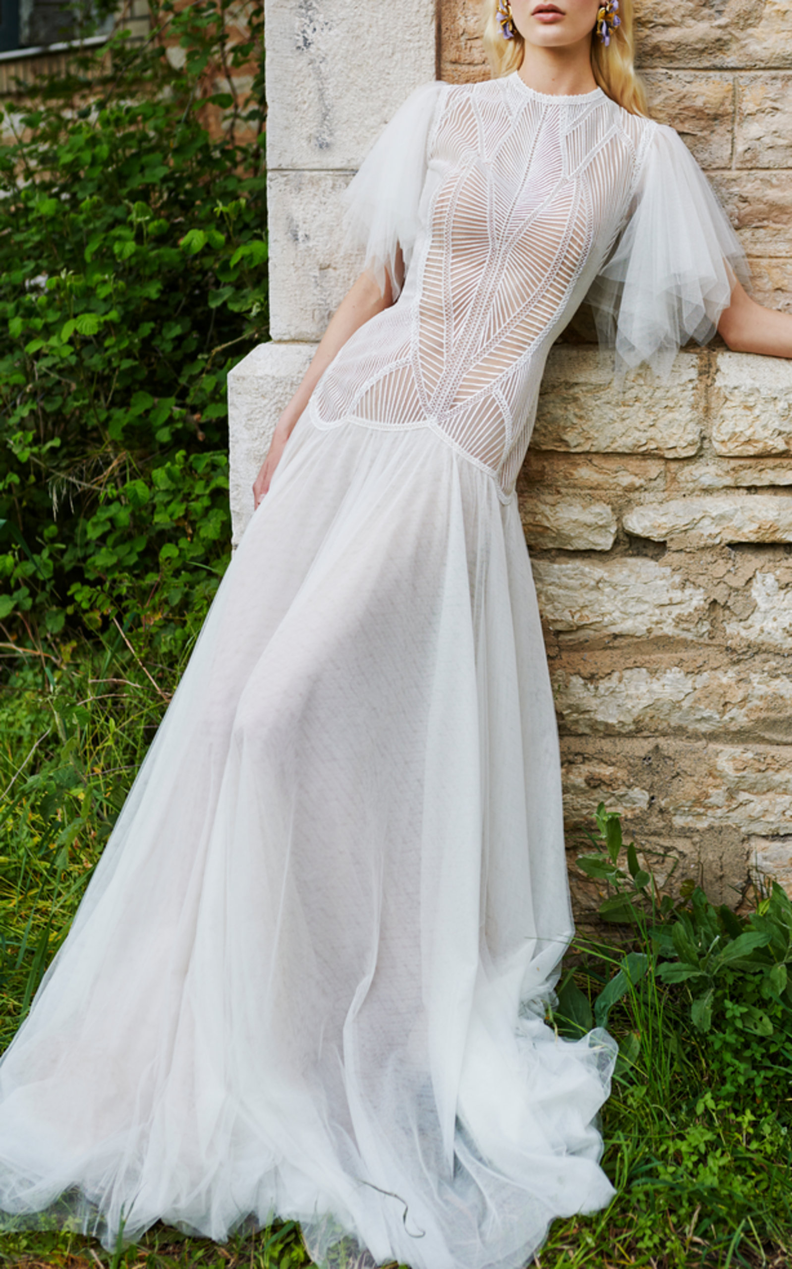 ANGEL-SLEEVE GOWN
