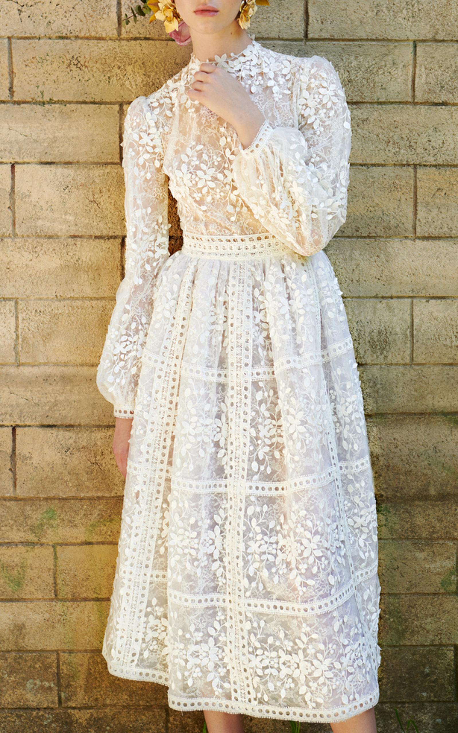 COSTARELLOS BRIDAL TEA LENGTH DRESS