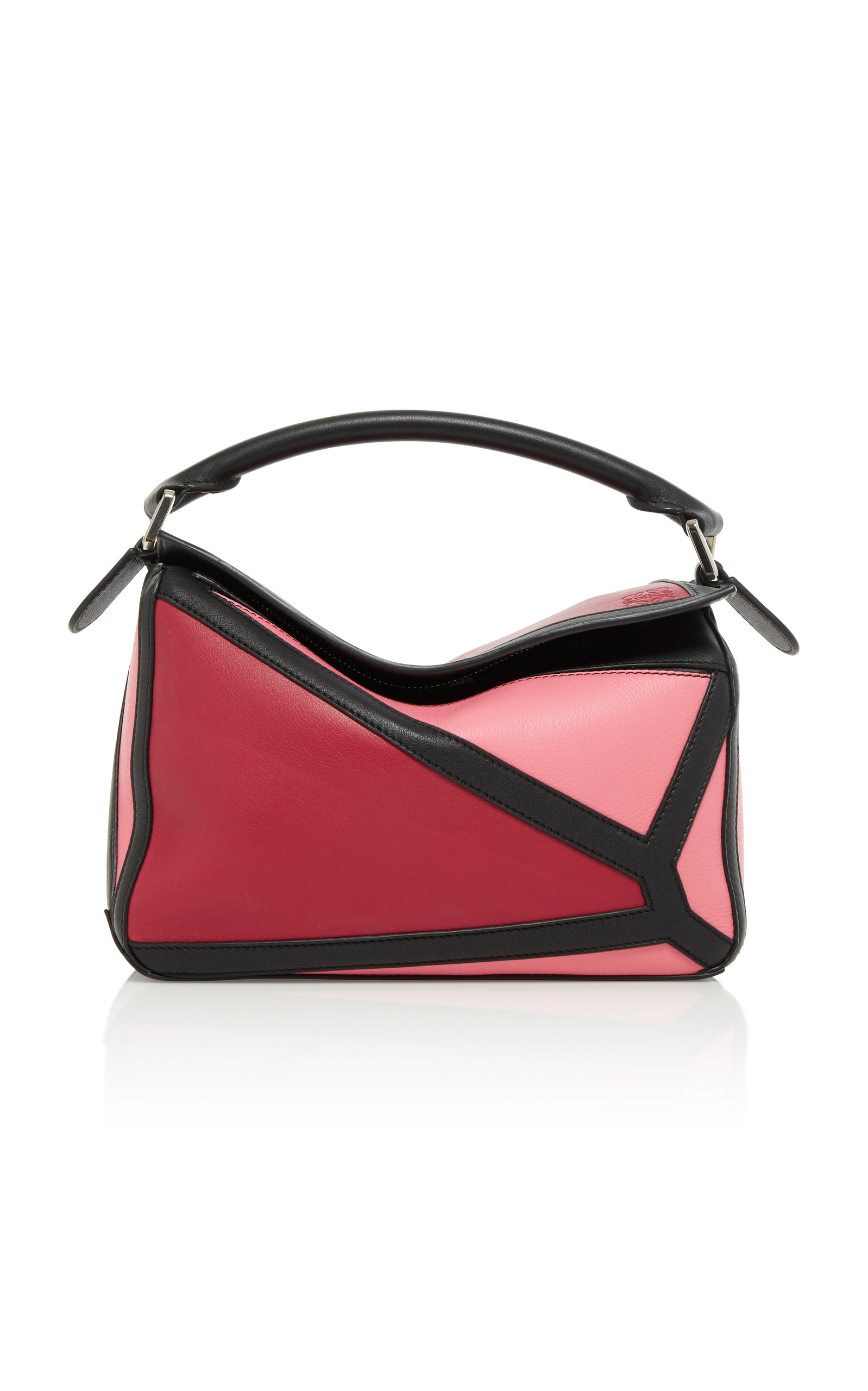 6689c172db0 Loewe Puzzle Graphic Colorblock Leather Bag - Pink