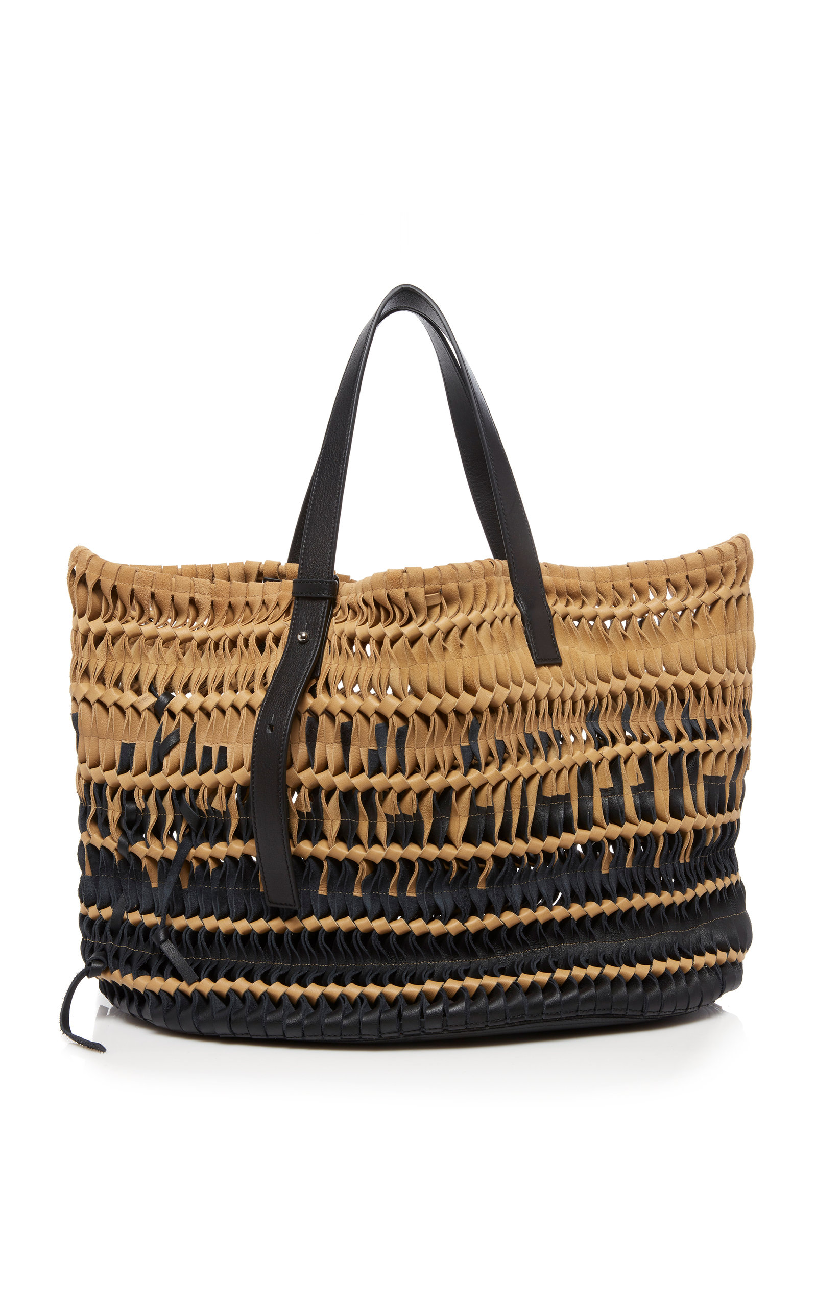 Woven Suede and Leather Tote Bag by Loewe