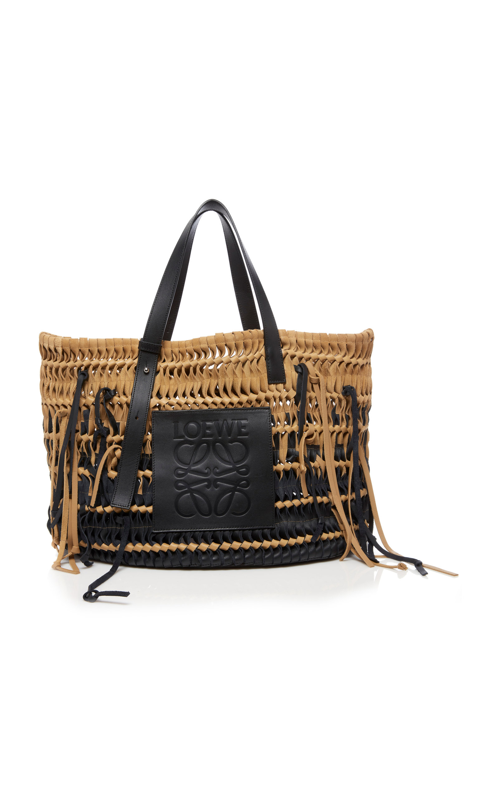 af6d71ddb Woven Suede and Leather Tote Bag by Loewe   Moda Operandi