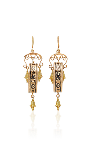 FOX AND BOND | Fox and Bond Victorian 14K Gold Chandelier Earrings | Goxip