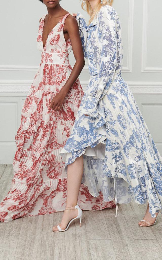 Long Sleeve Cocktail Dress By Oscar De La Renta Moda Operandi