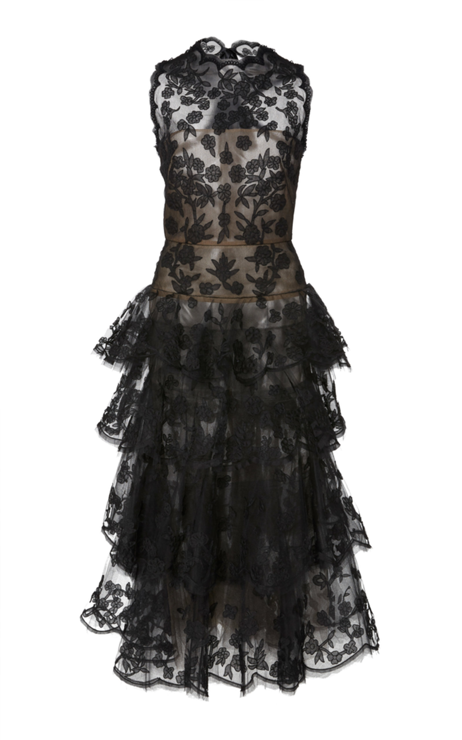 faea83ad9706e Floral Lace Cocktail Dress by Oscar de la Renta | Moda Operandi
