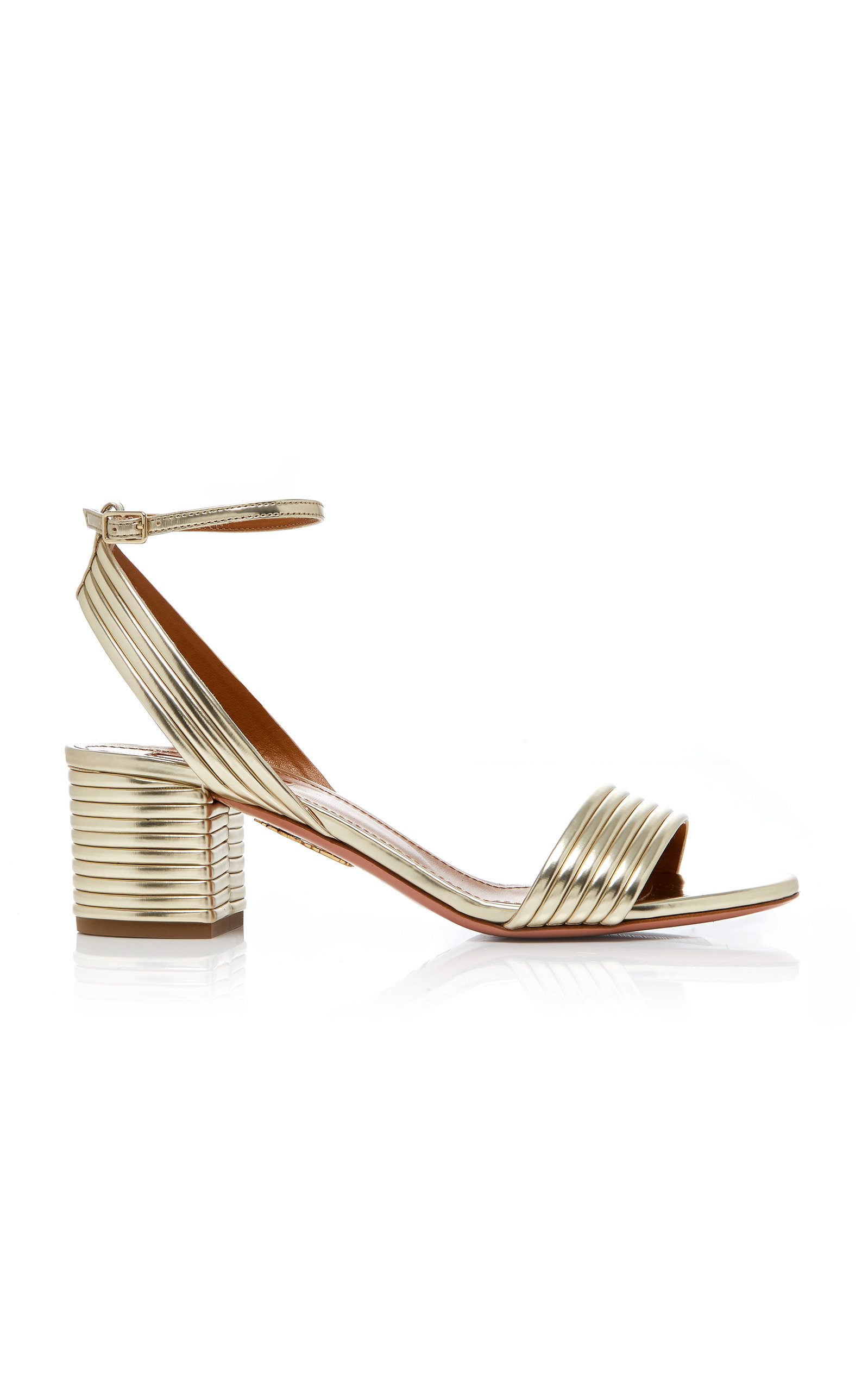 316828f28d Sundance Metallic Leather Sandals by Aquazzura | Moda Operandi