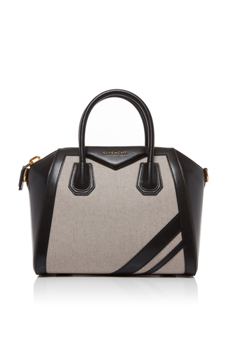 8d21ffb930b1 Antigona Small Leather and Linen Tote by Givenchy