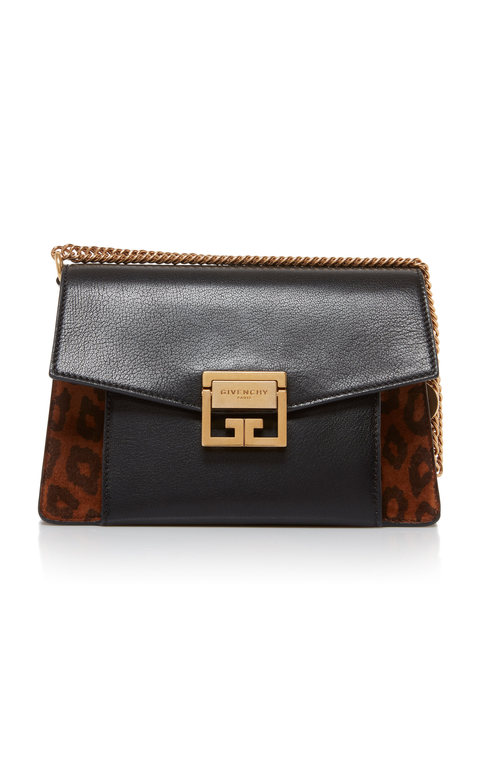 7d101afd2404 GV3 Leather and Suede Small Bag by Givenchy