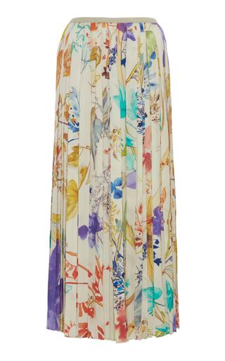 AGNONA | Agnona Twill Plisse Midi Skirt | Goxip