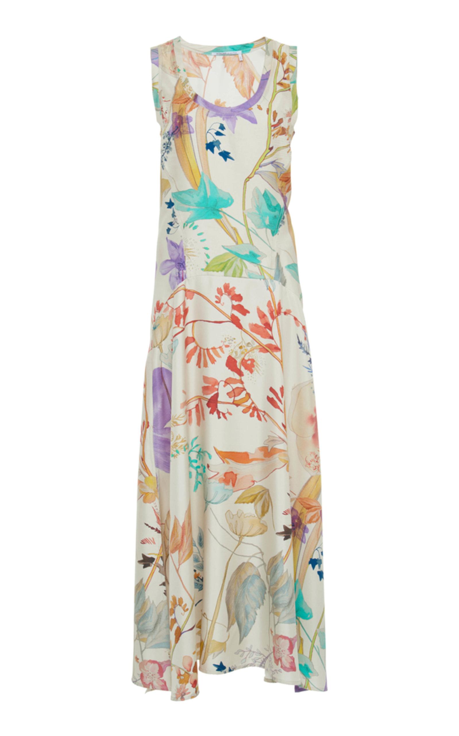 Floral Twill Tank Dress Agnona 16Uz0xgQj