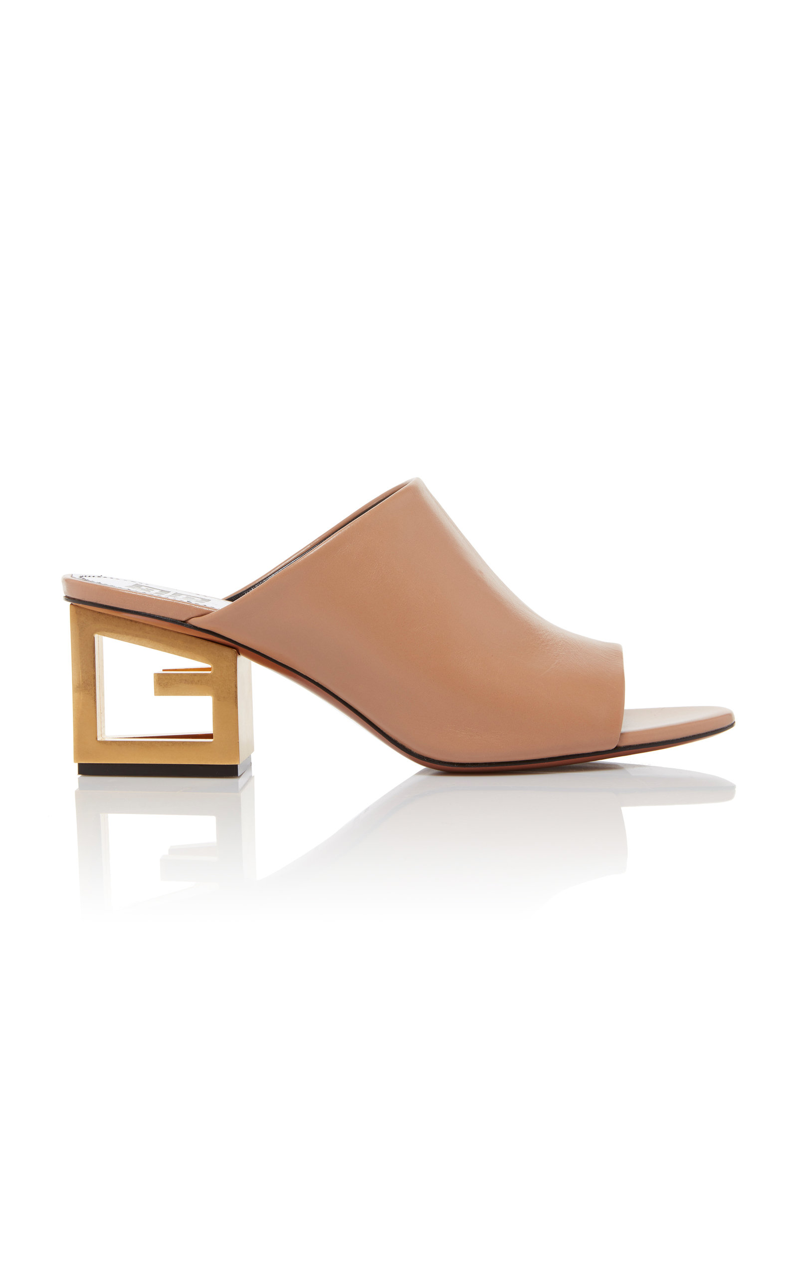 dbe4b2522d8d2 Triangle Open-Toe Leather Mules by Givenchy | Moda Operandi