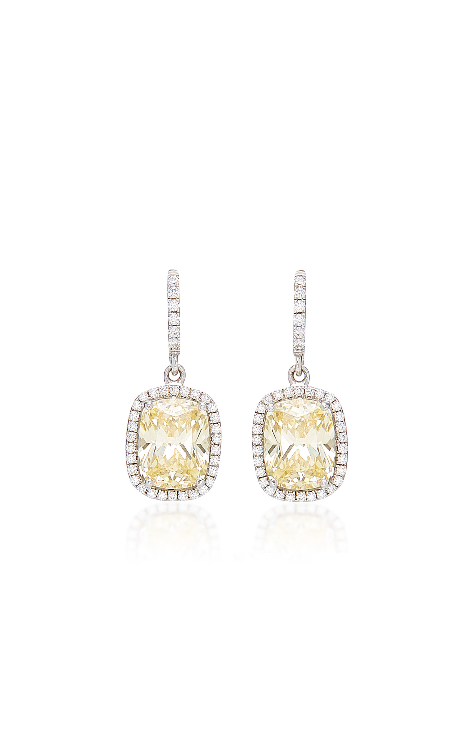 ANABELA CHAN 18K White Gold Sapphire And Diamond Earrings
