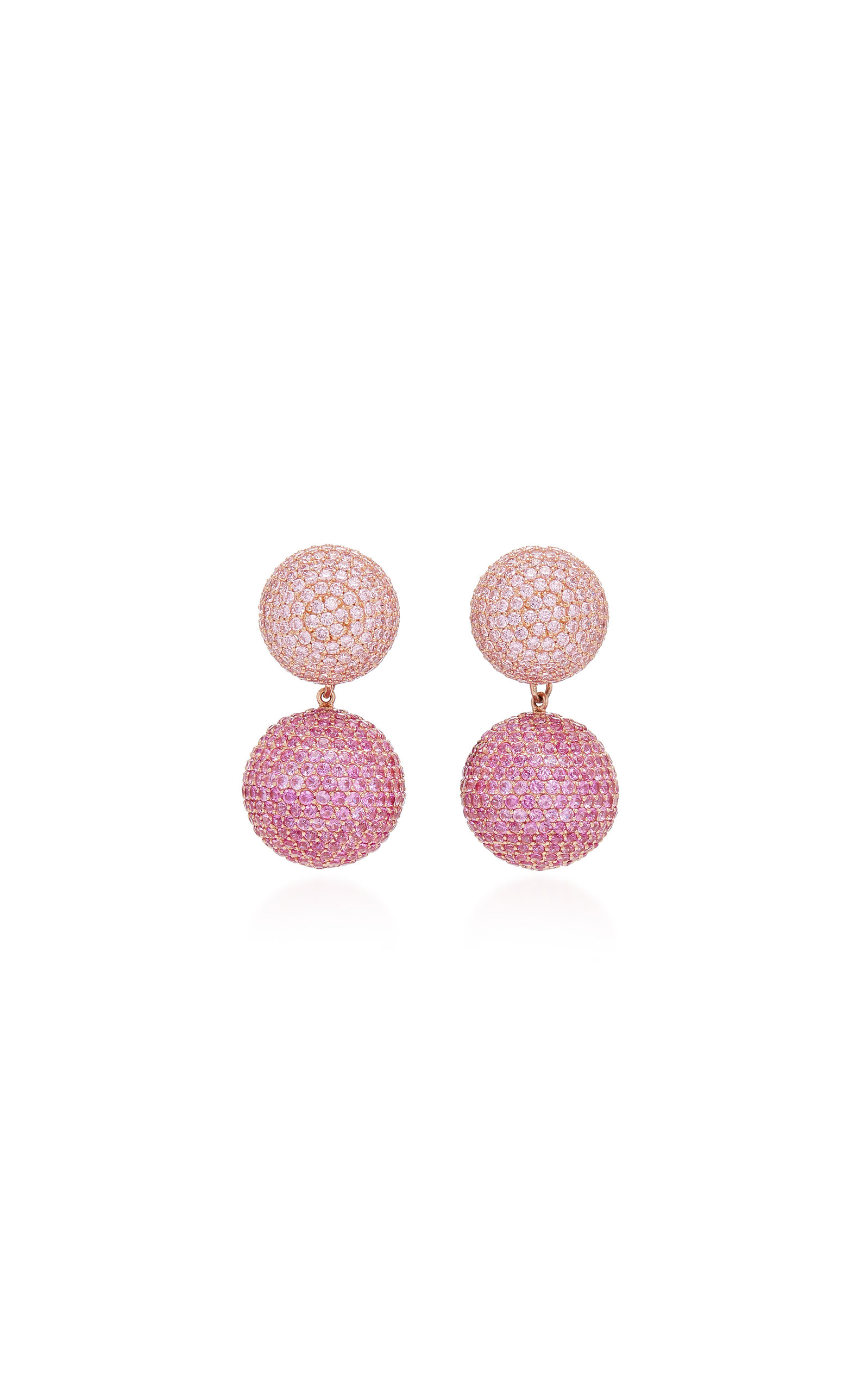 ANABELA CHAN Rose Sapphire 18K Gold Drop Earrings in Pink