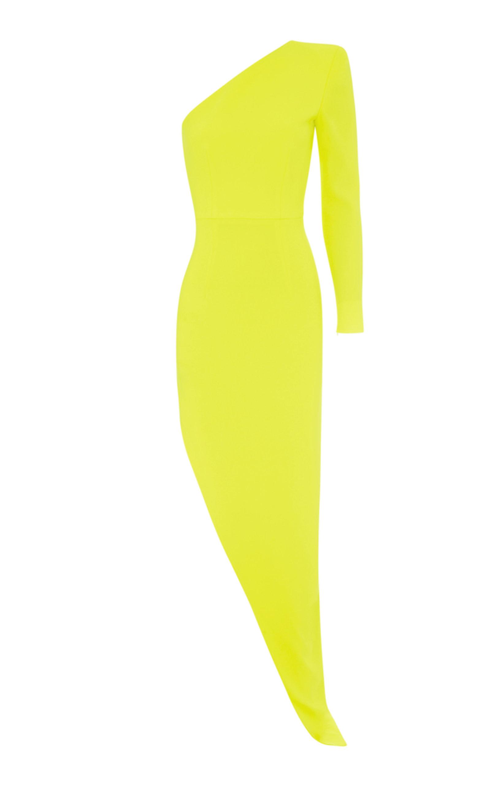 Jolie One Sleeve Cut Away Skirt Gown Alex Perry E5IonERNdI