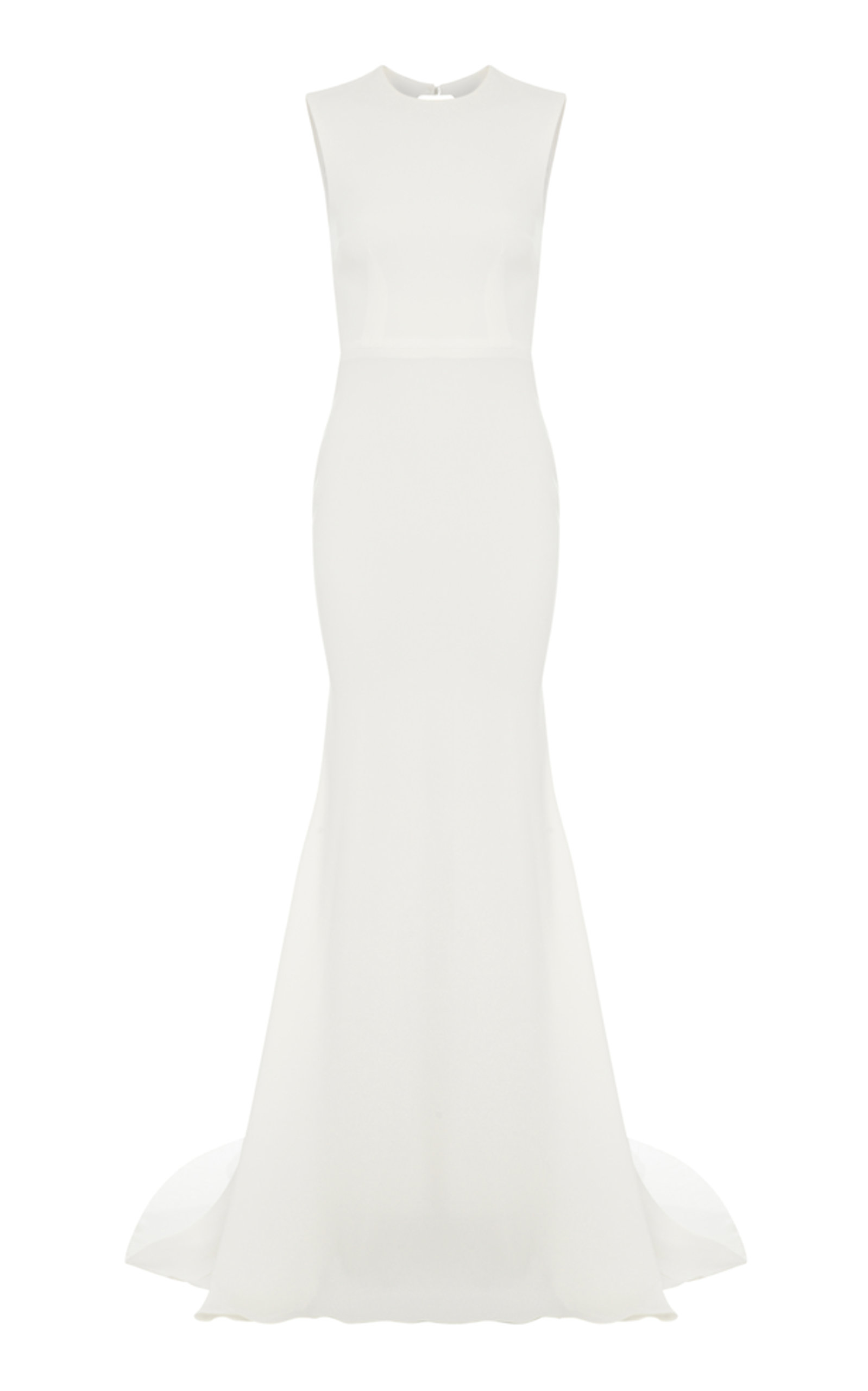 c308e0d43dc Alex Perry Mae Halter Open Back Gown In White